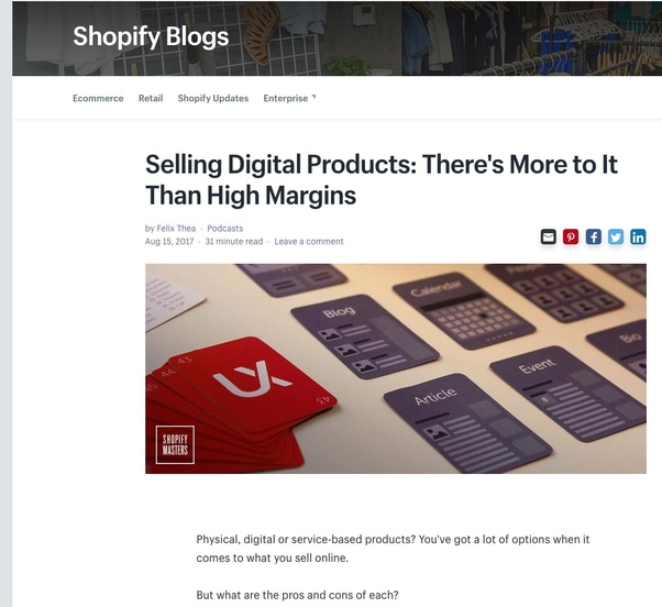 can you sell ebooks on shopify
